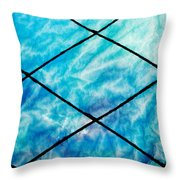Stained Glass In Blues Throw Pillow