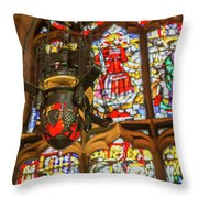 Stained Glass Lantern And Window Throw Pillow