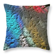 Stained Glass Light On Stucco Throw Pillow