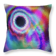 Stained Glass Morph #107 Throw Pillow
