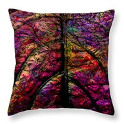 Stained Glass Not Throw Pillow