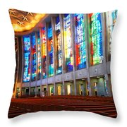Stained Glass Of St Josephs, Hartford Throw Pillow
