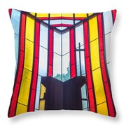 Stained Glass Reminder Throw Pillow
