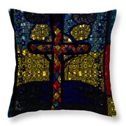 Stained Glass Reworked Throw Pillow