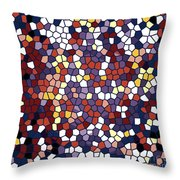 Vector Stained Glass Throw Pillow
