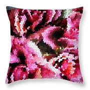 Stained Glass Roses 2 Throw Pillow