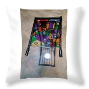 Stained Glass Sofa Table Throw Pillow