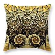 Stained Glass Summer Throw Pillow