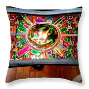 Stained Glass Table Throw Pillow