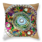 Stained Glass Table Top Throw Pillow