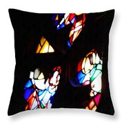 Stained Glass View Throw Pillow