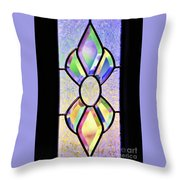 Stained Glass Watercolor Throw Pillow