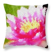 Stained Glass Waterlily Throw Pillow
