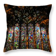 Stained Glass Window Christ Church Cathedral 1 Throw Pillow