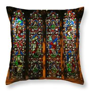 Stained Glass Window Christ Church Cathedral 2 Throw Pillow