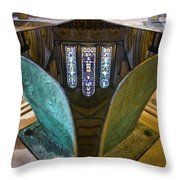 Stained Glass-window Reflection Throw Pillow