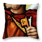 Stained Glass Window, St Peter Throw Pillow