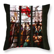 Stained Glass Window Vi Throw Pillow