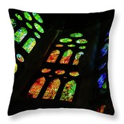 Stained Glass Windows -  Throw Pillow