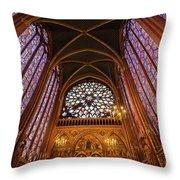 Windows Of Saint Chapelle Throw Pillow