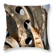 Stainless Abstract II Throw Pillow