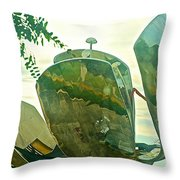 Stainless Steel Sculpture Called First Flower In Buenos Aires-argentina  Throw Pillow