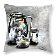 Stainless Steel Still Life Painting Throw Pillow