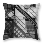 Stair Shadows Throw Pillow