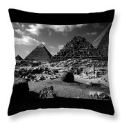 Stair Stepped Pyramids Throw Pillow