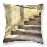Staircase At Pitti Palace Florence Pencil Throw Pillow
