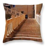 Staircase At Scala Della Ragione - Verona Italy Throw Pillow