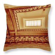 Staircase In Brown Throw Pillow