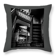 Staircase In Swannanoa Mansion Throw Pillow