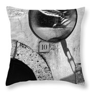 Staircase Reflection Throw Pillow by Silvia Ganora