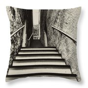 Stairs At Harpers Ferry Throw Pillow