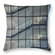 Stairs Behind Glass Throw Pillow