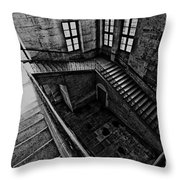 Stairs Black And White Throw Pillow