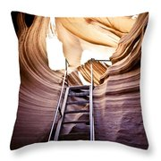 Stairs From Chaos Throw Pillow