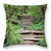 Stairs Going Up Hillside Throw Pillow