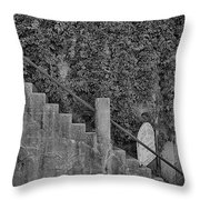 Stairs In Black And White Throw Pillow