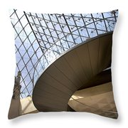 Stairs In Louvre Museum. Paris.  Throw Pillow