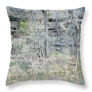 Stairs On The Wall Throw Pillow