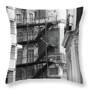 Stairs Outside Building Throw Pillow