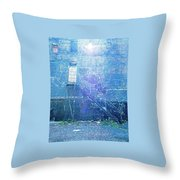 Stairs To Blue Throw Pillow