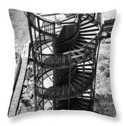 Stairs To Nowhere In Pismo Beach Throw Pillow by Priya Ghose