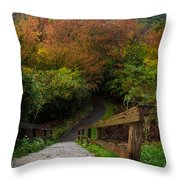 Stairs To The Graveyard Throw Pillow
