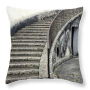 Stairs To Underground Throw Pillow