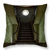 Stairs Toward The Attic - Abandoned House Throw Pillow