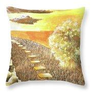Stairs Towards The Horizon Throw Pillow