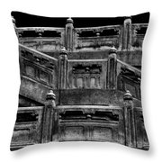 Stairway Around Buddha Throw Pillow